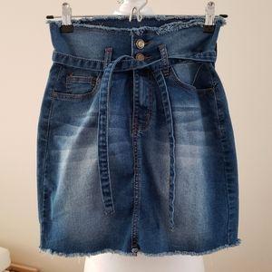 NWT Denim Skirt with belt